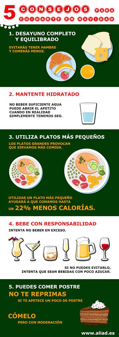 5 Consejos Saludables Navidad Infografia Aliad