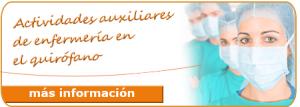 Actividades auxiliares de enfermería en el quirófano