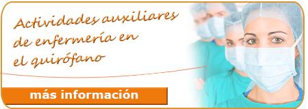 Actividades auxiliares de enfermería en quirófano